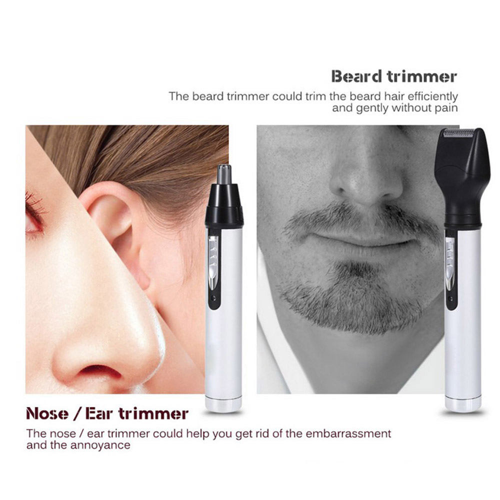 Washable Electric 4 in 1 Rechargeable Nose Beard Ear Eyebrow Hair Trimmer 300mAh for Men in Nose Ear Trimmer from Beauty Health