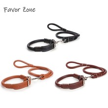 PU Leather Dog Collar Adjustable Leash Set in Choker Becklace Perro Collars Small Medium Large pets products
