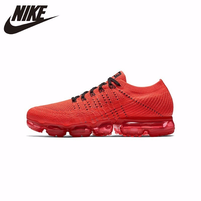 size 40 57bfc 9fc9a Nike Original Air VaporMax FK CLOT Women Running Shoes Red Abrasion  Resistant Shock Absorbing Breathable Non-slip #AA2241-006