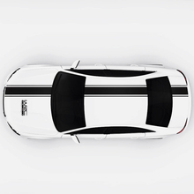 Black Vinyl Car Covers Stripe Sticker Racing Sports For VW Ford Renault Decoration Accessories