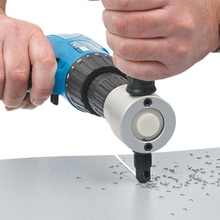 Professional Nibble Metal Cutting Double Head Metal Sheet Cutter Saw Cutter Drill Attachment