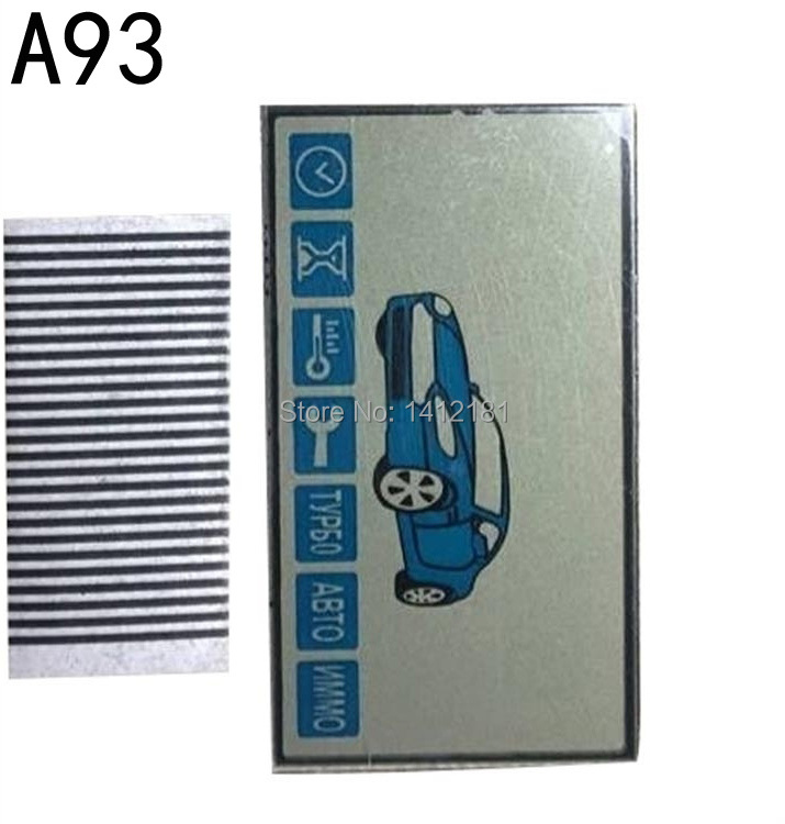 Wholesale A93 Keychain LCD Display Screen + Zebra Paper For Russian Starline A93 Lcd Remote Control Key Chain Fob Trinket