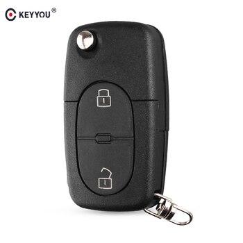 Chiave Telecomando per Audi A2 A3 A4 A6 Old Models CR1620/CR1616 2 Button Flip Folding Remote Key Case Shell