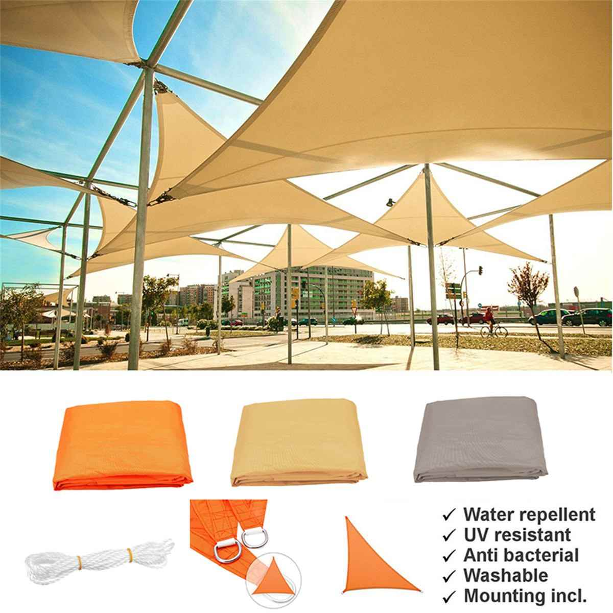 Detail Feedback Questions About 90 Sun Shade Rate Tents Outdoor Shelter Triangle Tent Canopy Garden Terrace Beach Pool Waterproof Sunproof Awning