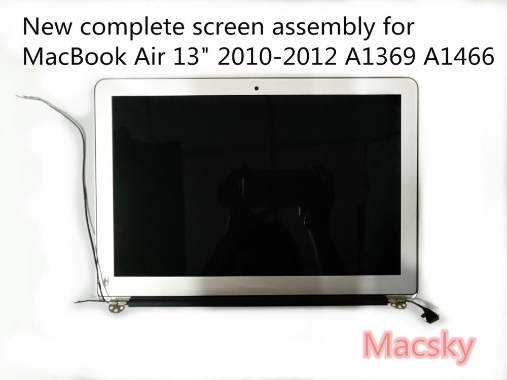 цена Brand New Complete LCD Screen Display Assembly for Macbook Air 13'' 2010 2011 A1369 661-5732 MC503 MC965 2010 2011 A1466 2012