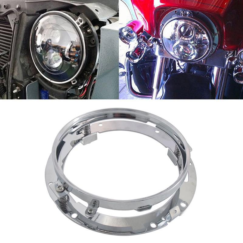Headlight Conversion Bracket Round Motorcycle Lamp Holder Headlight Bracket