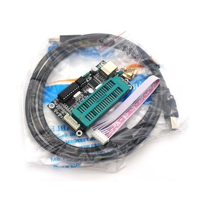 1 conjunto pic microcontrolador usb programação automática programador k150 + icsp cabo