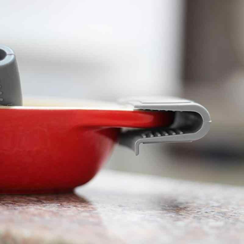 Praktyczna izolacja cieplna rękawica kuchenna rękawiczki palcowe zapiekanka ucha Pan uchwyt garnka uchwyt piekarnika anty gorący kociołek klip akcesoria kuchenne