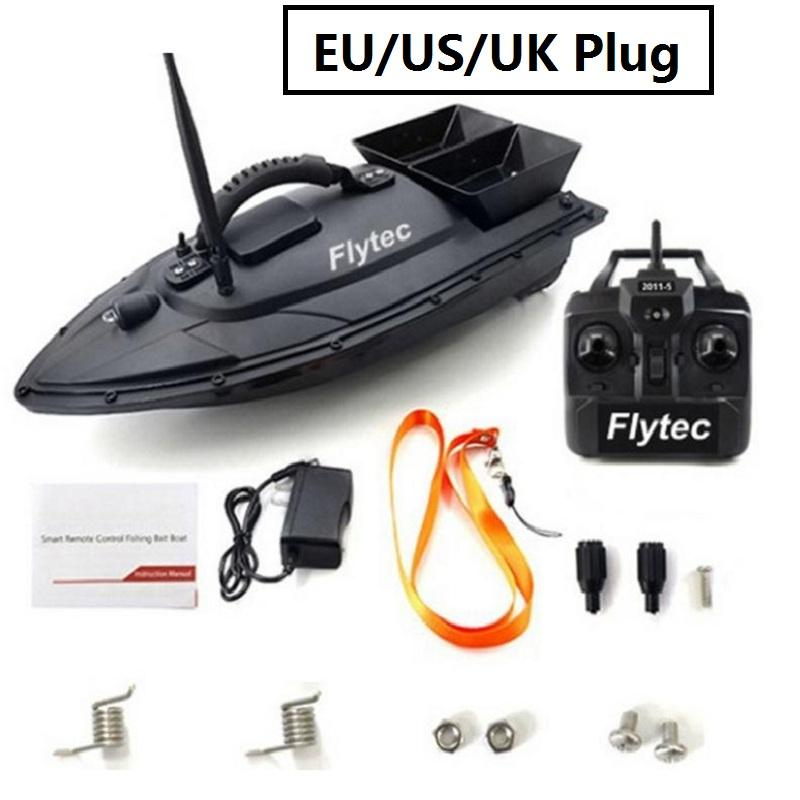 Hot Sale EU/US/UK Fishing Tool Smart RC Bait Boat Toys Dual Motor Fish Finder Ship Boat Remote Control 500m Fishing Boat