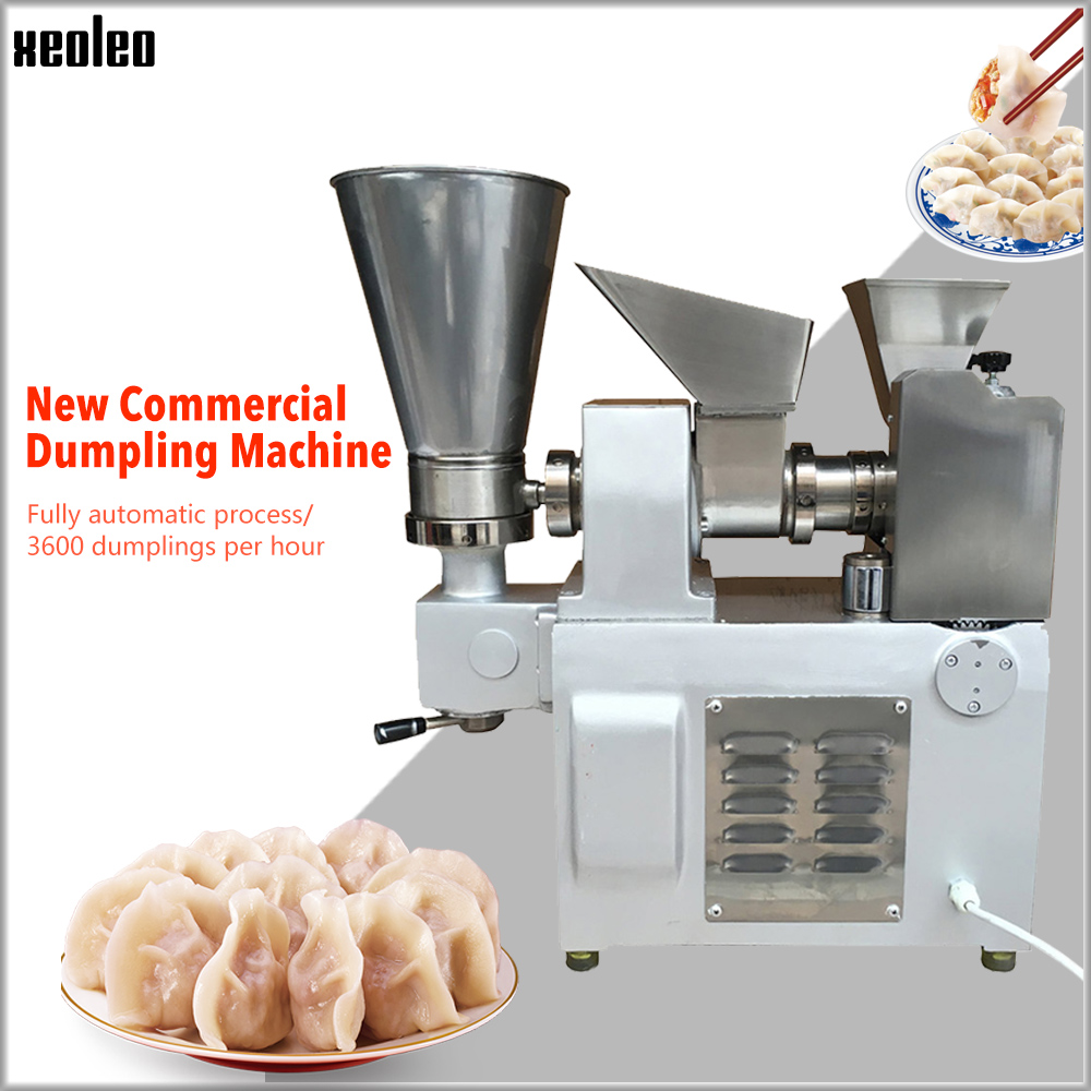 XEOLEO Dumpling Machine Automatic Dumpling Maker Stainless Steel Dumple Machine Make Fried Dumpling/Samosa/Spring Roll 3600pcs/h