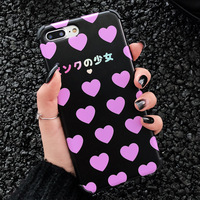 XINDIMAN girl love case for iphoneXR backcover silicone TPU for iphone 7 backcover 6 6s 6plus 7plus 8 8plus X XSMAX phone shell