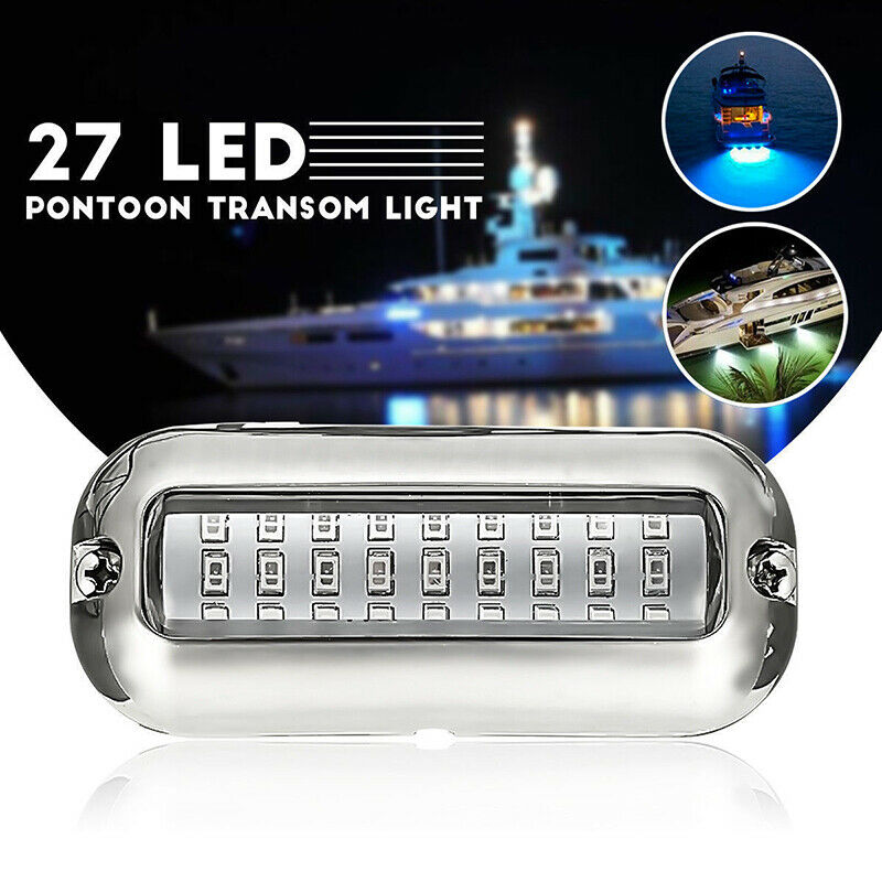 Led Lamps Led Underwater Lights 100% True 1pcs 12v 50w Stainless Steel 27led Blue Led Boat Light Underwater Pontoon Marine Ship Transom Light Fixing Prices According To Quality Of Products
