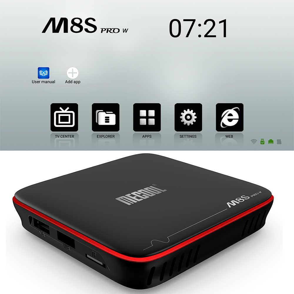 Mecool M8S PRO W Smart TV BOX Android 7.1 WiFi TV Box Amlogic S905W Quad Core H.265 HDR10 Mini PC 2GB 16GB HD lecteur multimédia