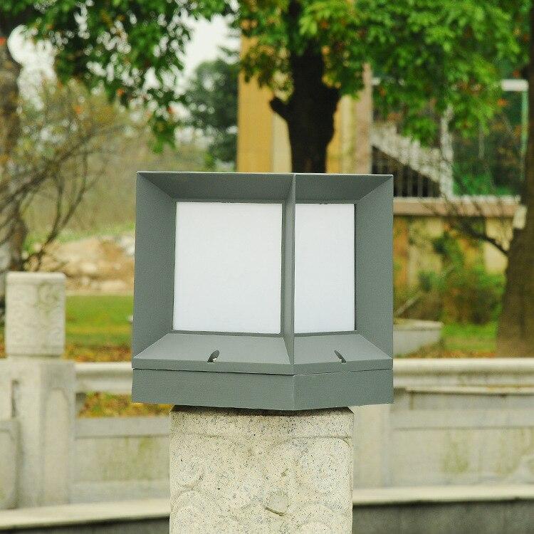 2 pièces carré colonne lampe E27 Base clôture applique étanche extérieur colonne phares Villa balcon jardin lumières