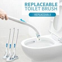 Товары, набор одноразовых щеток для чистки туалета, Сменная головка щетки для ванной комнаты, инструмент для Чистки унитаза
