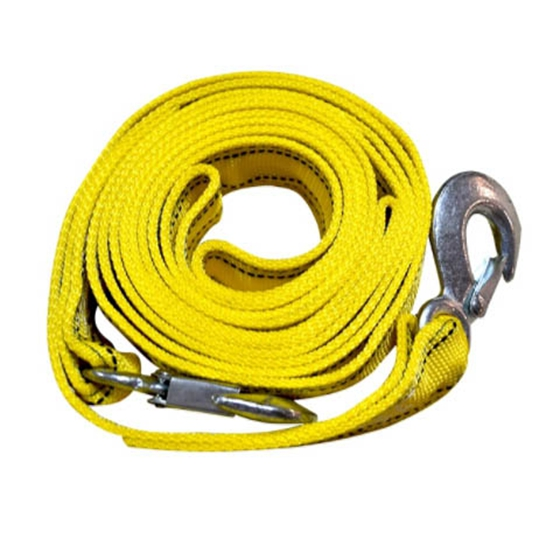 4M HEAVY DUTY CAR TOW ROPE WITH HOOKS 2.5 TONS RECOVER EMERGENCY CABLE VAN SAFE