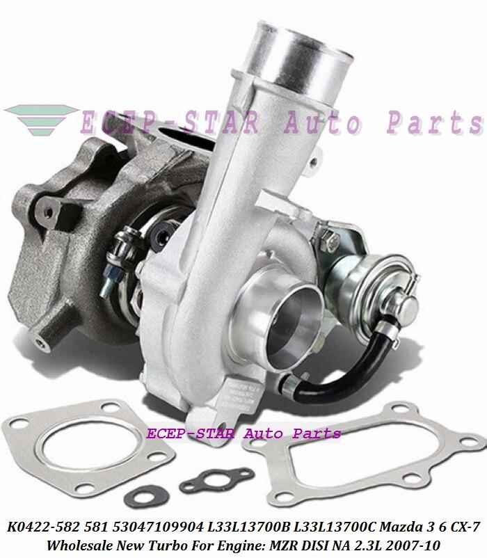 Turbo K0422-581 K0422-582 53047109904 L3Y11370ZC L3YC1370Z L3Y41370ZC L3M713700D 53047109907 For MAZDA CX-7 MZR DISI EU NA 2.3L