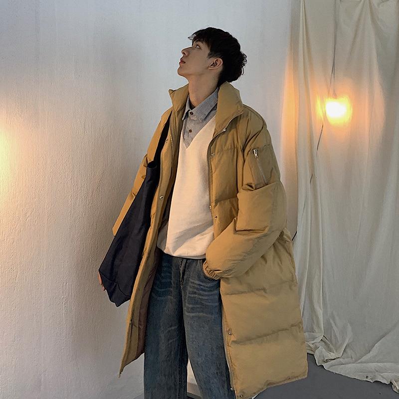 Color M De Los Largo Algodón Ropa Abrigos Invierno Moda Coreanos Hombres  Black Caqui khaki Acolchado 2xl Chaquetas ... 8db5ddc933