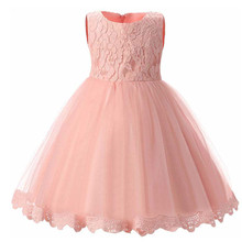 Cute Fashion Baby Flower Christening Gown Baptism Clothes Newborn Kids Girls Birthday Princess Infant Party Dresses недорого