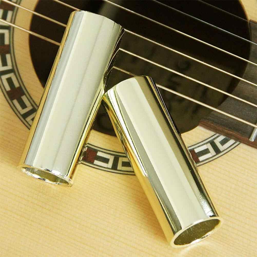 Гитара Бас латунная горка гитарная струнная трубка для пальца слайдер 60/70 мм для струн инструмент бас-гитара-укулеле mandolin запчасти