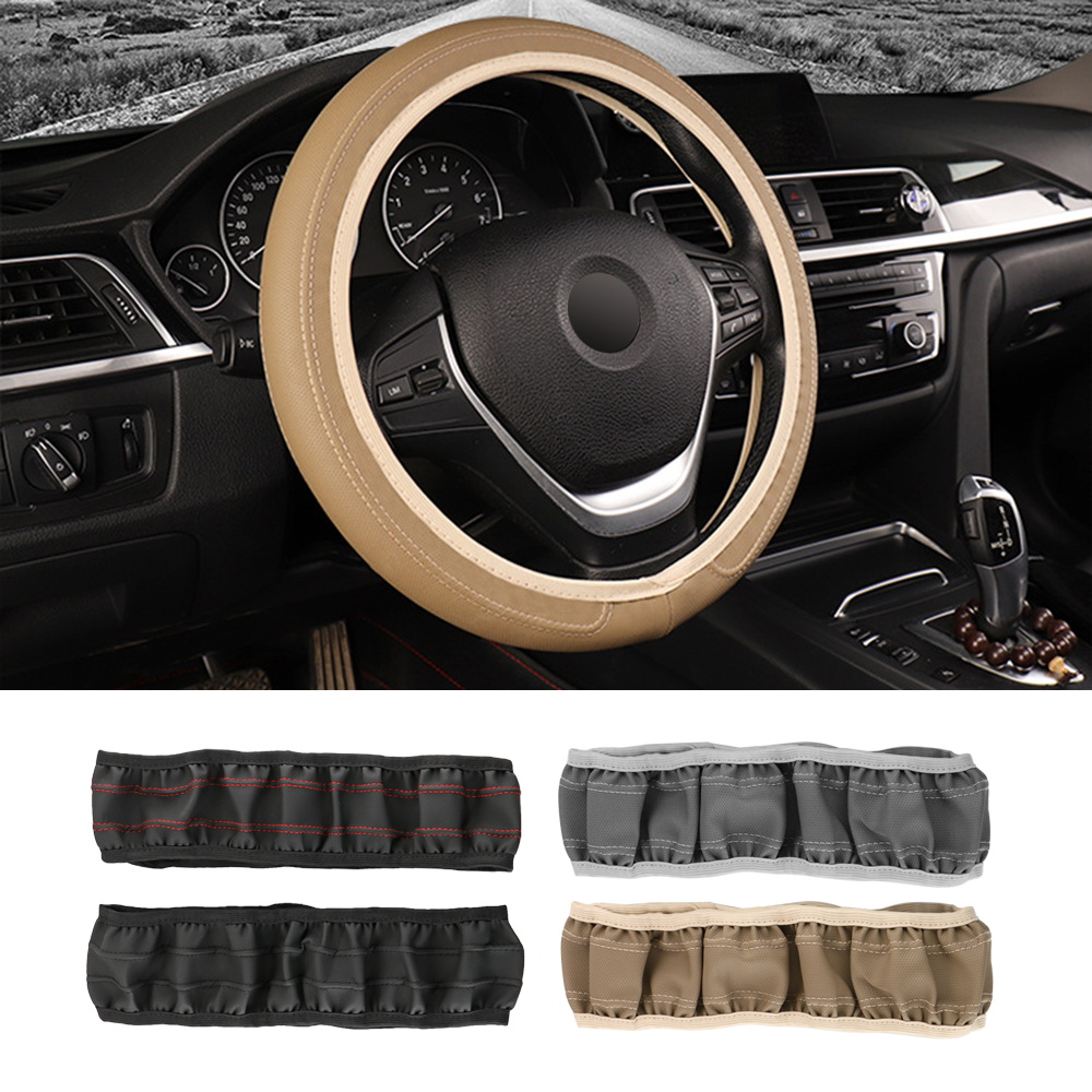 Auto Accessories Leather Fit for Most Cars Car Steering Wheel Cover Car-styling 37cm/38cm Universal Steering-wheel Cover