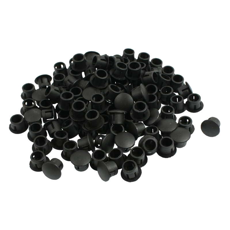100x 8mm Plastic Hole Plugs Rubber Stopper Plugs Plug