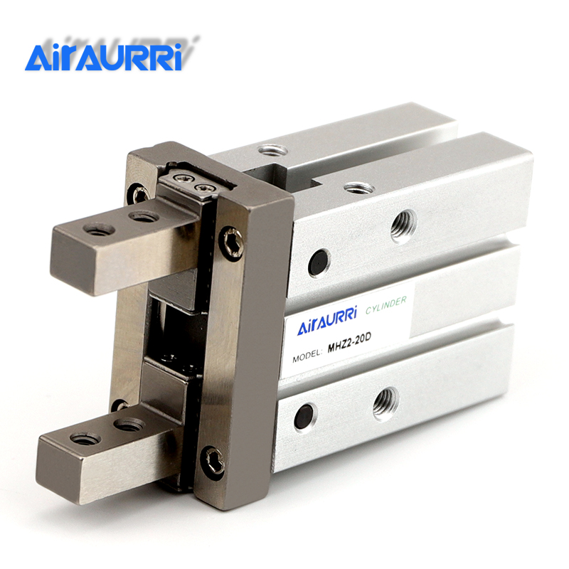 AIRAURRI MHZ2 20D Double Acting Air Gripper Pneumatic Finger Cylinder SMC Type Aluminium Clamps Bore20 MHZ2-20D Covering purposeAIRAURRI MHZ2 20D Double Acting Air Gripper Pneumatic Finger Cylinder SMC Type Aluminium Clamps Bore20 MHZ2-20D Covering purpose
