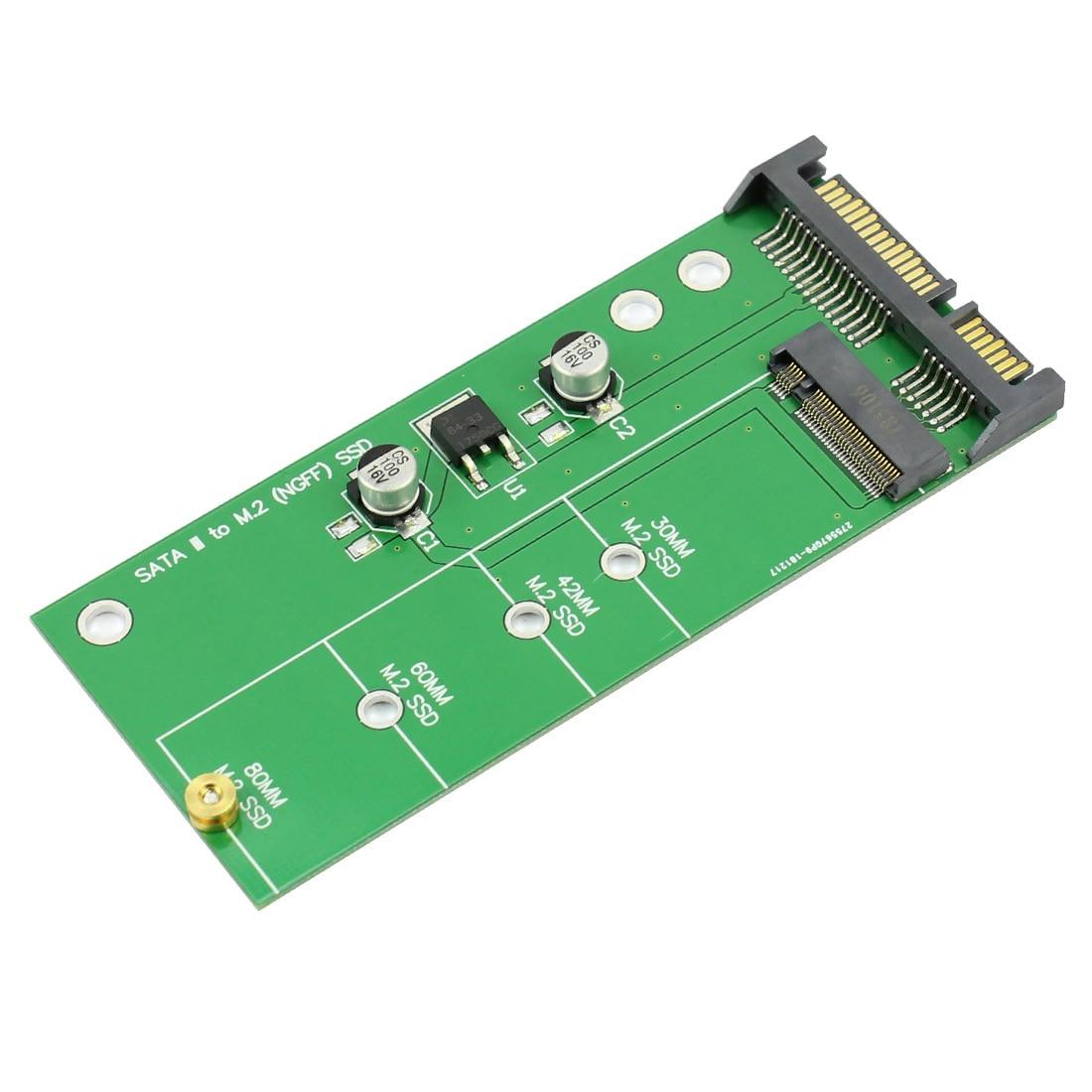 F06483 NGFF (M2) SSD à 2.5 adaptateur SATA M.2 NGFF SSD à SATA3 convertir carte avec deux condensateurs