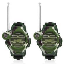 Children's Walkie-talkie Wristband Parent-child Outdoor Interactive Gift Toy Pair of Walkie talkies Button Battery