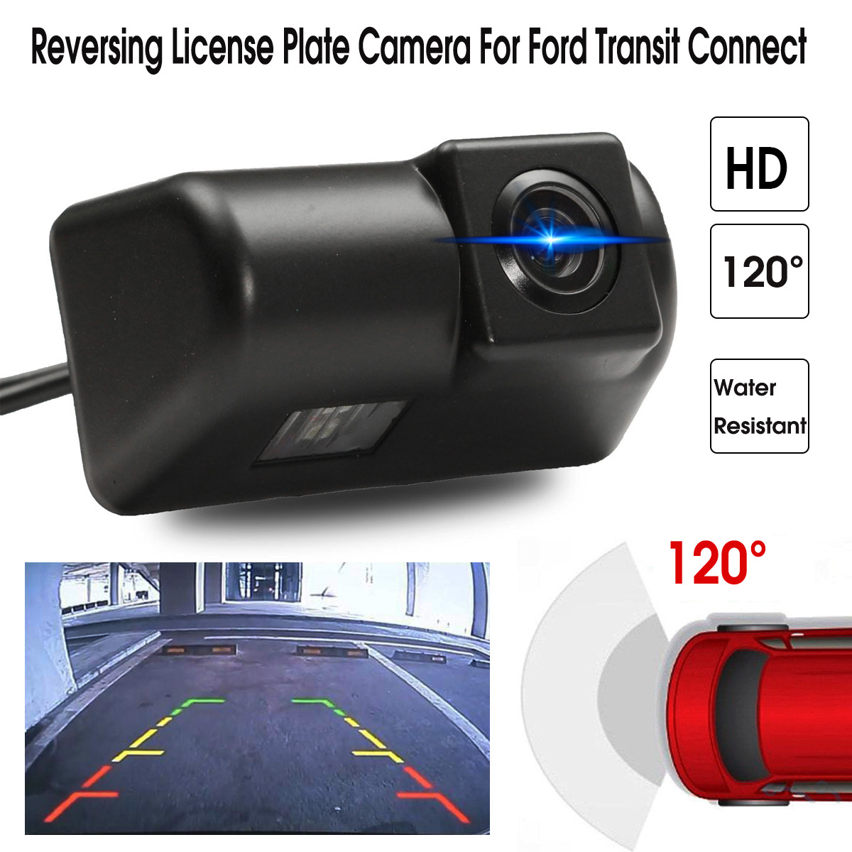 HD CCD Auto Car Rear View Camera Reverse Backup Parking Night Vision Waterproof Accessories For Ford Transit Connect