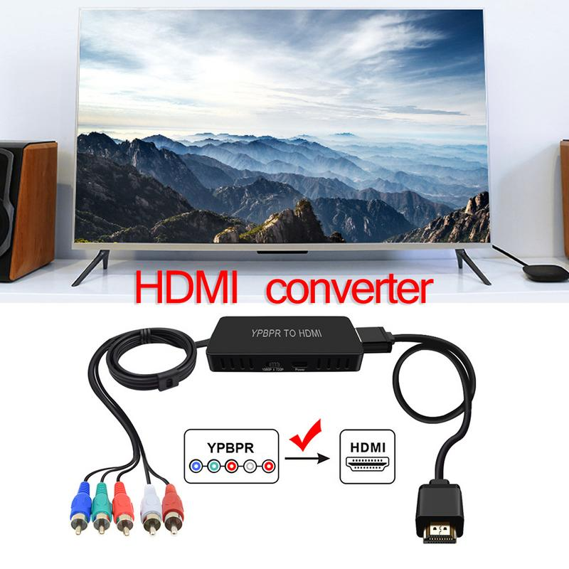 For DVD PSP Xbox 360 Color Difference To HDMI Video Audio Converter Adapter Color Difference Standard High definition HDMI