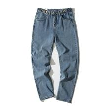 Hot Sale Casual Men Jeans Straight Cotton High Quality Denim Jeans Loose Blue Color Men Jeans Pants 2017 men s fashion straight black jeans men s pants with high quality 100% cotton jeans loose style jeans men super size 32 48