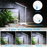 LED Night Light Touch Dimming USB Charging Protection Eye Reading Night Light Children Learning Table Lamp E