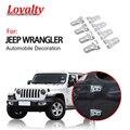 Лояльность для Jeep Wrangler JL 2018 2019 Передняя и задняя Накладка для дверных петель хромированная защита декоративная отделка Авто Стайлинг Аксес...