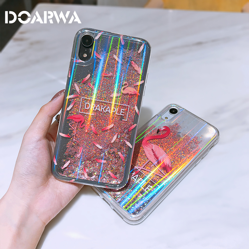 new arrival 69751 8cb01 US $3.66 20% OFF|Liquid Glitter phone Cases For iphone XS MAX XR Stylish  Funny For Apple iphone X XR XS MAX Flashing Dynamic Quicksand Case Cover-in  ...