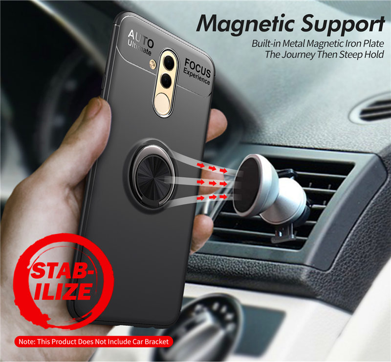 Huawei Mate 20 Pro Case Mate20 Cover Colored Silicone Case For Huawei Mate 20 Lite 20X Soft TPU Case Magnetic Car Holder Ring in Fitted Cases from Cellphones Telecommunications