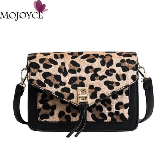 Leopard Print Crossbody Bags for Women 2018 Fashion Lady PU Sling Shoulder  Bag Casual Girls Messenger Handbag Bolsa Feminina 4721a2fce8863
