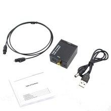 Коаксиальный Оптический выход цифровой в аналоговый аудио конвертер адаптер RCA L/R 3,5 мм