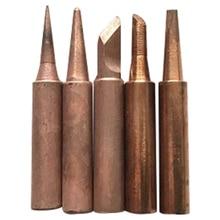 5 قطعة x لحام Tips900M T لحام الحديد النحاس النقي خالية من الرصاص لحام هاكو محطة إعادة العمل أطراف لحام