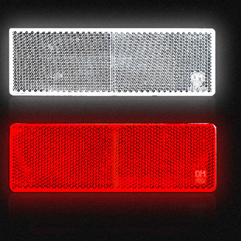 10ps Red White Plastic Reflector Reflective Warning Plate Stickers Sign Sheeting Universal Car For SUV Truck Motorcycle Safety in Reflective Strips from Automobiles Motorcycles