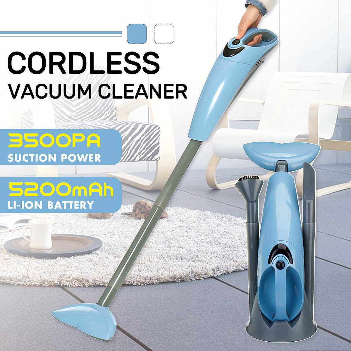 100W Handheld Wireless Vacuum Cleaner Portable Household Dust Collector and Aspirator HEPA Filter Strong Suction Cleaning Tool100W Handheld Wireless Vacuum Cleaner Portable Household Dust Collector and Aspirator HEPA Filter Strong Suction Cleaning Tool