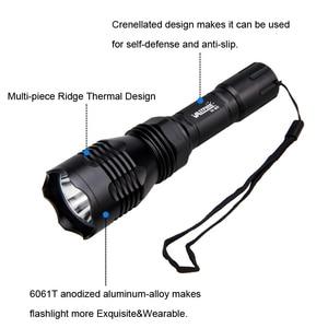 Image 5 - 1000 Lümen T6/L2/Q5 Güçlü 400 Yard LED el feneri Taktik Lanterna LED El Feneri Feneri 18650 şarj edilebilir pil