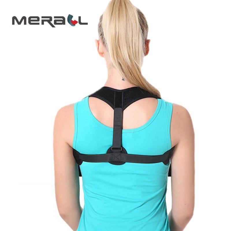 Shoulder Back Support Posture Corrector Humpback Correction Belt Corset Breathable Adult Children Clavicle Braces Adjustable