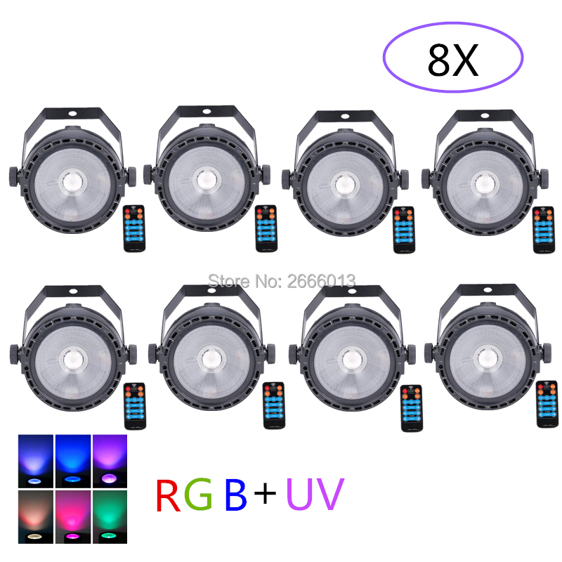 8pcs lot LED COB Stage Light For Disco DJ LED 30W RGB UV COB Par Light