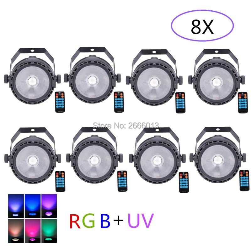 8pcs lot LED COB Stage Light For Disco DJ LED 30W RGB UV COB Par Light