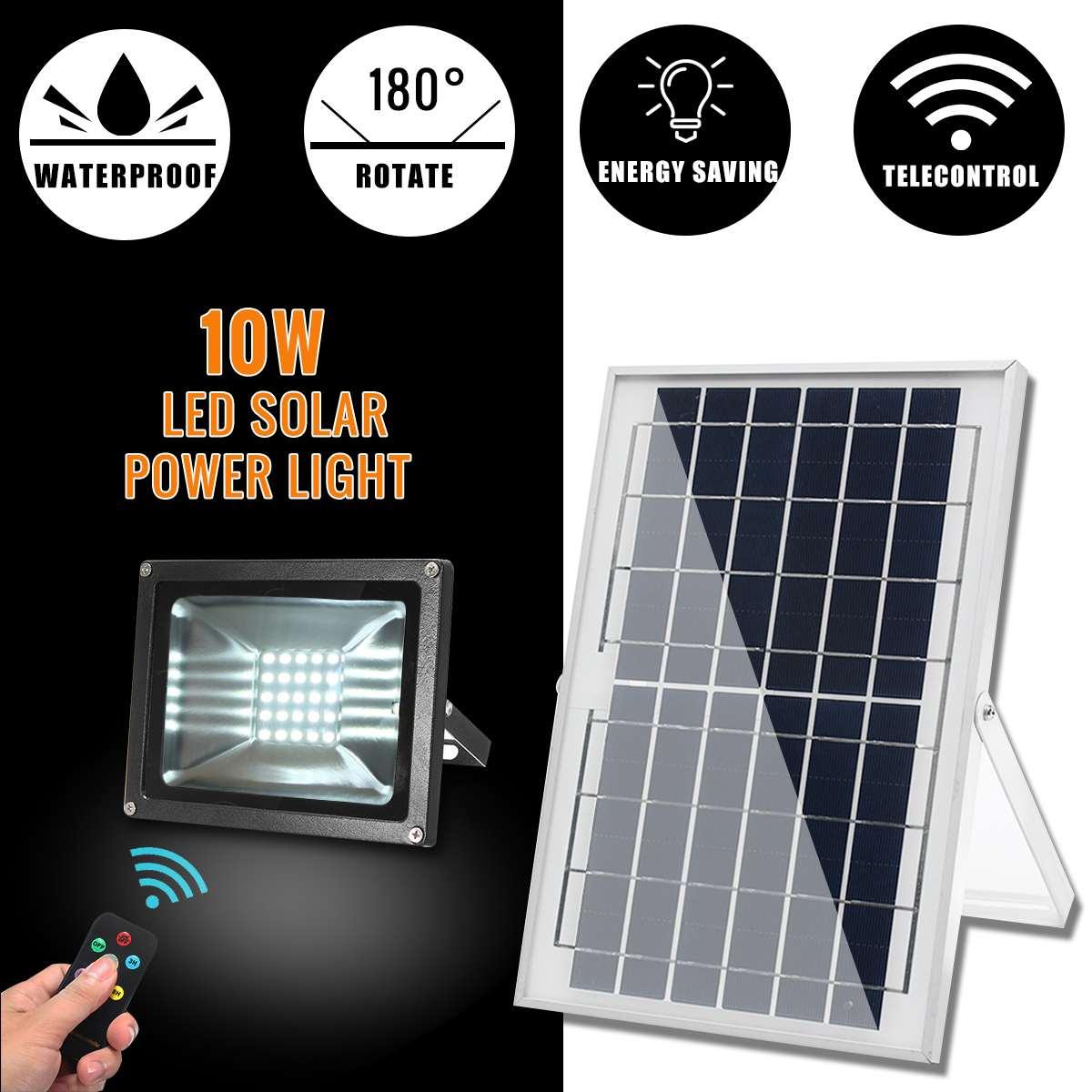 Smuxi IP65 10 Вт светодиодный солнечный прожекторная панель Водонепроницаемый для садовых и комнатных растений освещение для внутреннего двора