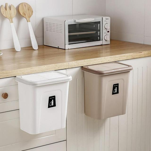 Push Top Trash Can Chef Hanging Automatic Return Lid For Fruit And