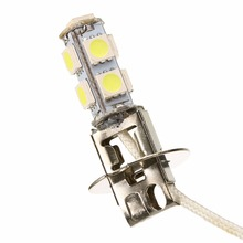 1pc H3 5050 9 SMD LEDs/ bulb White Car Fog Driving Light Headlight Lamp DRL Bulb LED Light Bulbs цена