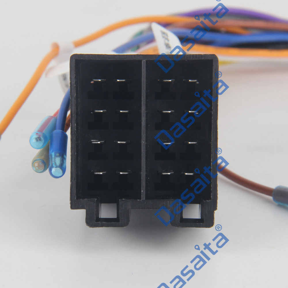 hight resolution of  dasaita car radio stereo power cable female iso connector wire harness adapter for vw polo audi