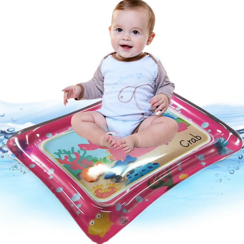 Baby Red Inflatable PVC Patted Pad Children Music Water Sports Mat For Baby Playing On The Water Is Not Wet